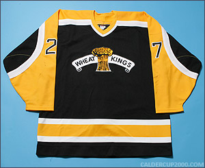 1997-1998 game worn Mike Wirll Brandon Wheat Kings jersey