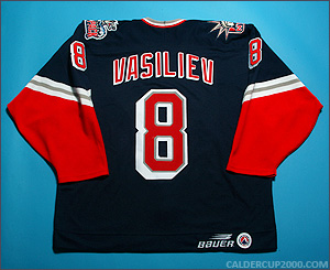 1998-1999 game worn Alexei Vasiliev Hartford Wolf Pack jersey