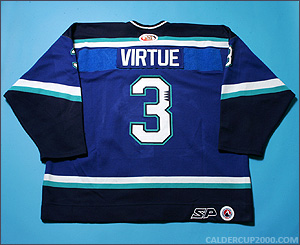 2003-2005 game worn Terry Virtue Worcester IceCats jersey