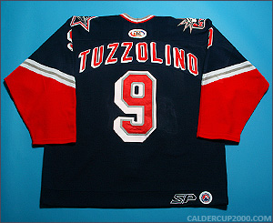 2000-2001 game worn Tony Tuzzolino Hartford Wolf Pack jersey