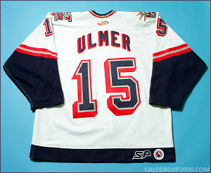 2001-2002 game worn Layne Ulmer Hartford Wolf Pack jersey