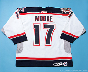 2003-2004 game worn Dominic Moore Hartford Wolf Pack jersey