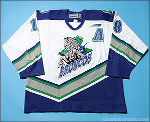 2000-2001 game worn Layne Ulmer Swift Current Broncos jersey