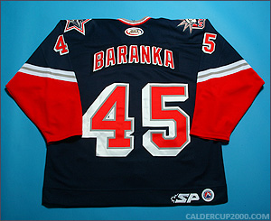 2004-2005 game worn Ivan Baranka Hartford Wolf Pack jersey