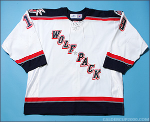2005-2006 game worn Daniel Sparre Hartford Wolf Pack jersey