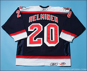 2005-2006 game worn Dwight Helminen Hartford Wolf Pack jersey