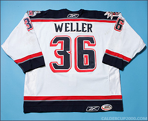2005-2006 game worn Craig Weller Hartford Wolf Pack jersey