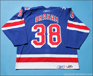 2005-2006 game worn Bruce Graham Hartford Wolf Pack jersey
