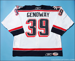 2005-2006 game worn Colby Genoway Hartford Wolf Pack jersey
