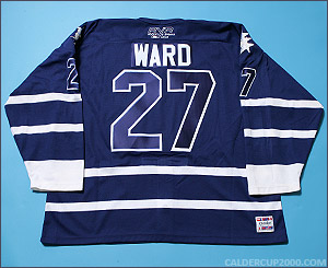 2004-2005 game worn Aaron Ward OSHL Toronto jersey