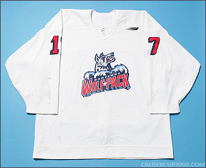 1997-1998 game worn Peter Ferraro Hartford Wolf Pack jersey