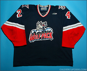 1997-1998 game worn Adam Smith Hartford Wolf Pack jersey