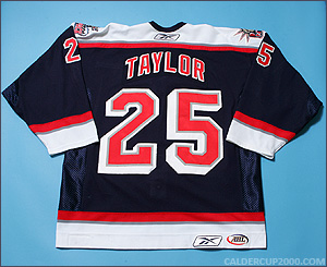 2005-2006 game worn Jake Taylor Hartford Wolf Pack jersey
