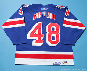 2006-2007 game worn Daniel Girardi Hartford Wolf Pack jersey