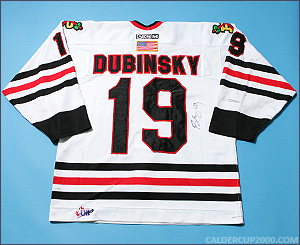 2003-2004 game worn Brandon Dubinsky Portland Winter Hawks jersey