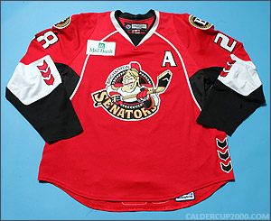 2007-2008 game worn Lawrence Nycholat Binghamton Senators jersey