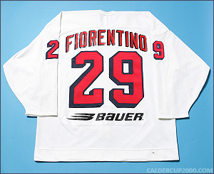 1997-1998 game worn Peter Fiorentino Hartford Wolf Pack jersey