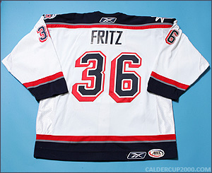 2007-2008 game worn Mitch Fritz Hartford Wolf Pack jersey