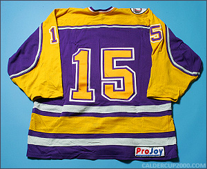 1998-1999 game worn Rick White Wilfrid Laurier Golden Hawks jersey