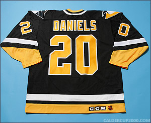 1993-1994 game worn Jeff Daniels Pittsburgh Penguins jersey
