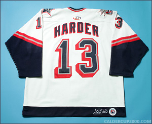 2000-2001 game worn Mike Harder Hartford Wolf Pack jersey