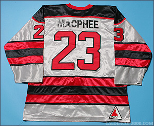 1992-1993 game worn Wayne MacPhee Brantford Smoke jersey