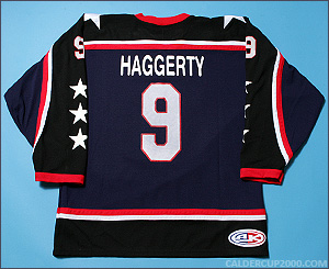 2006-2007 game worn Ryan Haggerty Atlantic Allstars jersey