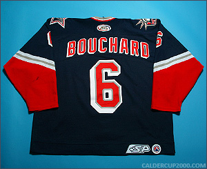 2002-2003 game worn Joel Bouchard Hartford Wolf Pack jersey