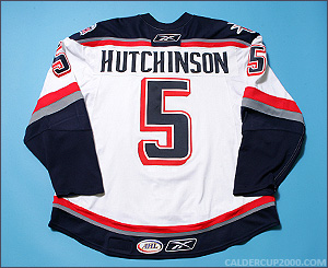 2007-2008 game worn Andrew Hutchinson Hartford Wolf Pack jersey