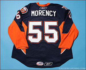 2007-2008 game worn Pascal Morency Bridgeport Sound Tigers jersey