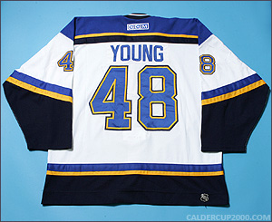 2001-2002 game worn Scott Young St. Louis Blues jersey