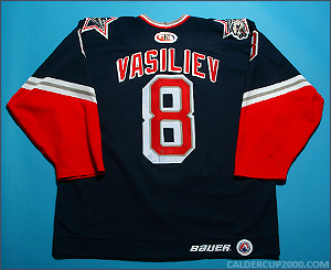 1999-2000 game worn Alexei Vasiliev Hartford Wolf Pack jersey