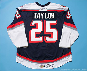 2007-2008 game worn Jake Taylor Hartford Wolf Pack jersey