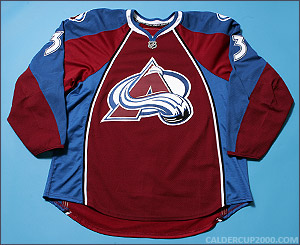 2008-2009 game worn Lawrence Nycholat Colorado Avalanche jersey
