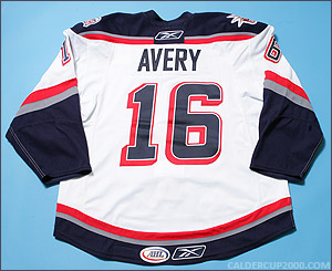 2008-2009 game worn Sean Avery Hartford Wolf Pack jersey
