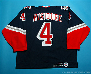 1998-1999 game worn Ryan Risidore Hartford Wolf Pack jersey