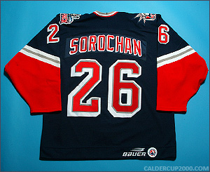 1998-1999 game worn Lee Sorochan Hartford Wolf Pack jersey