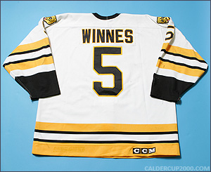 1992-1993 game worn Chris Winnes Providence Bruins jersey