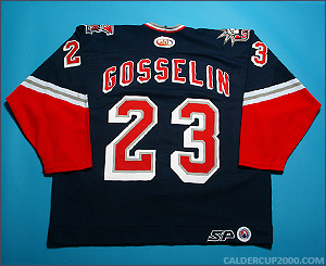 2001-2002 game worn Christian Gosselin Hartford Wolf Pack jersey