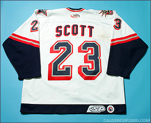 2002-2003 game worn Richard Scott Hartford Wolf Pack jersey