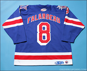 2004-2005 game worn Lee Falardeau Hartford Wolf Pack jersey
