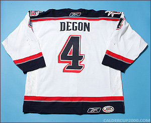 2005-2006 game worn Marvin Degon Hartford Wolf Pack jersey