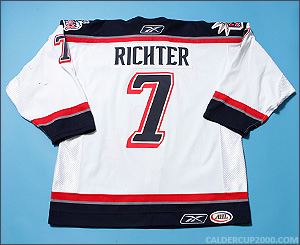 2006-2007 game worn Martin Richter Hartford Wolf Pack jersey
