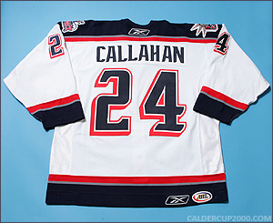 2006-2007 game worn Ryan Callahan Hartford Wolf Pack jersey