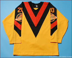 1983-1984 game worn Gerry Minor Vancouver Canucks jersey