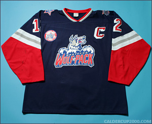 1997-1998 game worn Ken Gernander Hartford Wolf Pack jersey