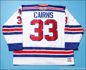 2004-2005 game worn Eric Cairns OSHL New York jersey