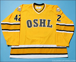 2004-2005 game worn Darcy Hordichuk OSHL Boston jersey