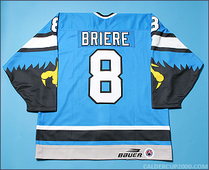 1997-1998 game worn Daniel Briere Springfield Falcons jersey