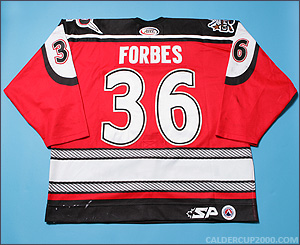 2003-2004 game worn Colin Forbes Portland Pirates jersey